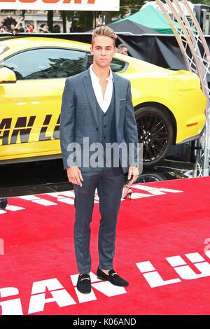 London, Großbritannien. 21 Aug, 2017. Julius Cowdrey, Logan Lucky-UK Film Premiere, Leicester Square, London, Großbritannien, - Stockfoto