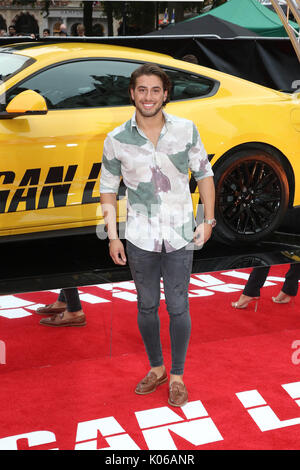 London, Großbritannien. 21 Aug, 2017. Kem Cetinay, Logan Lucky-UK Film Premiere, Leicester Square, London, Großbritannien, - Stockfoto