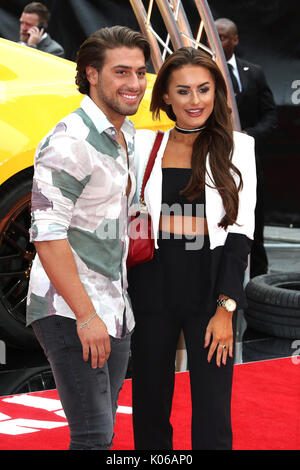London, Großbritannien. 21 Aug, 2017. Kem Cetinay, Amber Davies, Logan Lucky-UK Film Premiere, Leicester Square, - Stockfoto