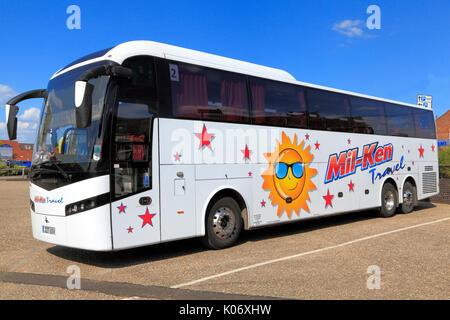 Mil-Ken Reisen, Coach, Trainer, Tag Tipps, Reise, Ausflug, Ausflüge, Reisen unternehmen, Unternehmen, Verkehr, England, - Stockfoto
