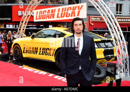 Adam Fahrer an der Logan Lucky UK Premiere bei Vue West End in Leicester Square, London. - Stockfoto