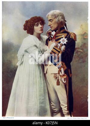 Forbes Robertson (1853 - 1937) und Frau Patrick Campbell (1865 b 1940). Johnston Forbes Robertson war ein englischer - Stockfoto