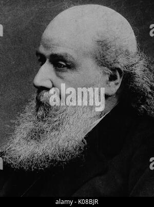 Foto von James Joseph Sylvester, bärtigen mit langen Haaren, Side Shot, neutralen Gesichtsausdruck, Original Fakultät - Stockfoto