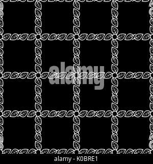 Vektor nahtlose schwarz wei berlappende kreise muster for Minimal art zusammenfassung