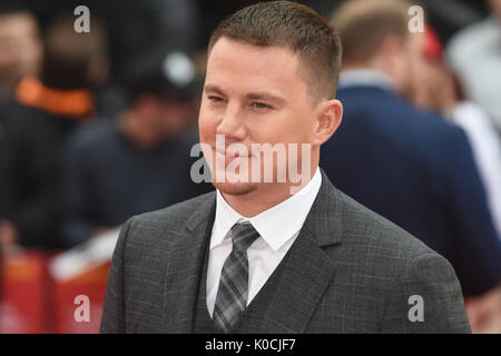 "Channing Tatum,"" Logan Lucky'-UK Premiere Vue West End, den Leicester Square, London. Großbritannien - Stockfoto"