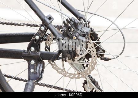 Kettenrad hinten Fahrrad Rad - Stockfoto