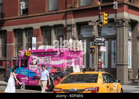 Ice Cream Truck in SoHo, New York City, USA - Stockfoto