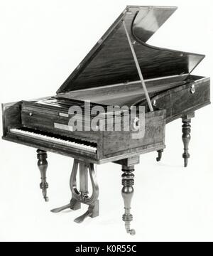 Beethovens Broadwood Forte Piano (moderne Foto) Ludwig van Beethoven. - Stockfoto