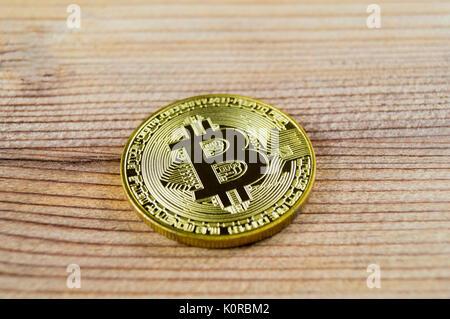 Bitcoin ist eine moderne Art der Austausch und das crypto Währung ist ein bequemes Zahlungsmittel in der Finanz - Stockfoto