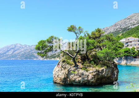 Insel in Brela. - Stockfoto