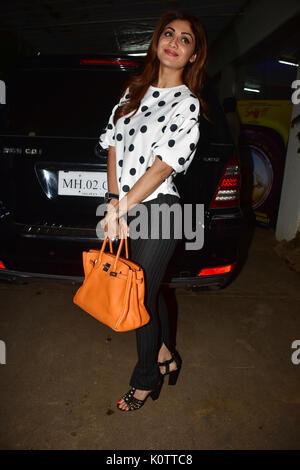 Mumbai, Indien. 23 Aug, 2017. Indische Schauspielerin Shilpa Shetty bei der Vorführung des Films niff' bei Sunny - Stockfoto
