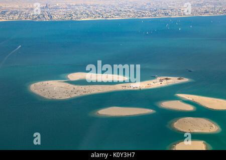 Dubai die Welt Clarence Chile Inseln Luftbild Fotografie VAE - Stockfoto
