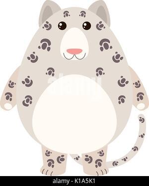 Leopard mit glücklichen Gesicht Abbildung - Stockfoto
