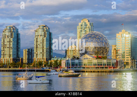 Telus Science World, False Creek, Vancouver, British Columbia, Kanada - Stockfoto