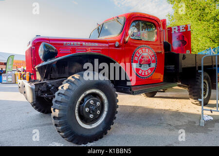 Rote Lkw Brauen, Dodge Power Wagon, Fahrzeug, Vancouver, British Columbia, Kanada. - Stockfoto