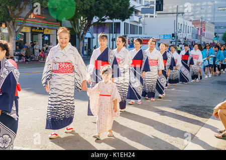 Los Angeles, USA. 27 August, 2017. Hervorragende Nisei Week Festival Abschlussveranstaltung am 27.August 2017 in - Stockfoto