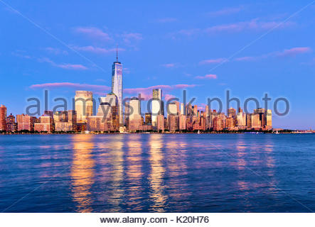 New York Skyline New York City One World Trade Center - Stockfoto
