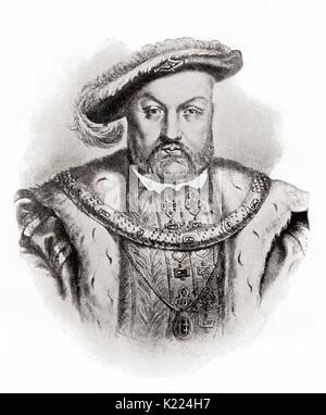 Heinrich VIII., 1491 - 1547. König von England. Von internationalen Bibliothek des berühmten Literatur, veröffentlicht 1900