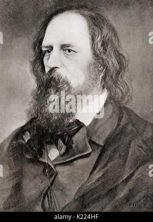 Alfred Tennyson, 1st Baron Tennyson, 1809 - 1892. Poet Laureate von Großbritannien und Irland. Von internationalen - Stockfoto
