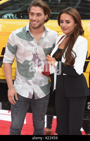 Kim Cetinay, Amber Davies, Lucky Logan-UK Premiere Vue West End, den Leicester Square, London, UK - Stockfoto