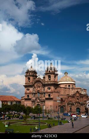 Iglesia de la Compañía (erbaut 1605-1765), Plaza de Armas, Cusco, Peru, Südamerika - Stockfoto