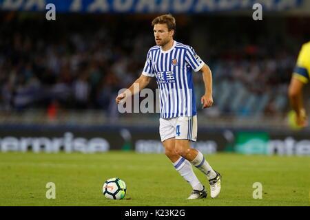 """San Sebastian, Spanien. 25 Aug, 2017. Asier Illarramendi (Sociedad) Fußball: Spanisch """"La Liga Santander' Match - Stockfoto"""