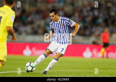 "San Sebastian, Spanien. 25 Aug, 2017. Juanmi (Sociedad) Fußball: Spanisch ""La Liga Santander' Match zwischen Real - Stockfoto"