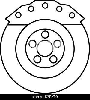 Bremsbacke Symbol, outline Style - Stockfoto