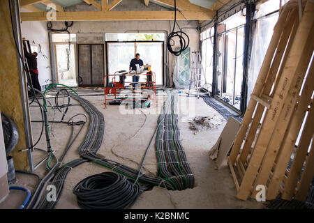 elektroinstallation im haus neubau stockfoto bild 78055115 alamy. Black Bedroom Furniture Sets. Home Design Ideas