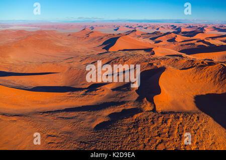 Luftbild des Namib-Naukluft-Nationalpark mit Sand dune Lebensraum, Namibia - Stockfoto