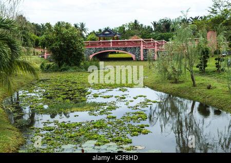 Taman Rekreasi Tasik Melati, Perlis, Malaysia - Tasik Melati ist berühmt für seine Seen und die Freizeiteinrichtungen - Stockfoto