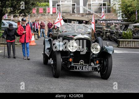 Die Sammlung von pre-1951 Classic Cars der Jersey alter Motor Club Ltd., Jersey War Tunnels - German Underground - Stockfoto