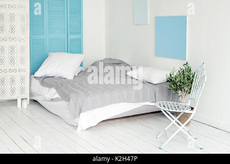 innere des modernen schlafzimmer 3d render stockfoto bild. Black Bedroom Furniture Sets. Home Design Ideas