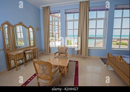 Interior Design Einrichtung Einrichtung Von Luxus Zeigen Home Schlafzimmer  Mit Tropischen Meerblick Mit Verzierten   Stockfoto