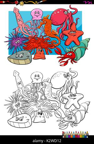 Cartoon-Oktopus für Malbuch Vektor Abbildung - Bild: 64545485 - Alamy