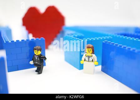 Lego liebe Verstecken und Suchen - Stockfoto