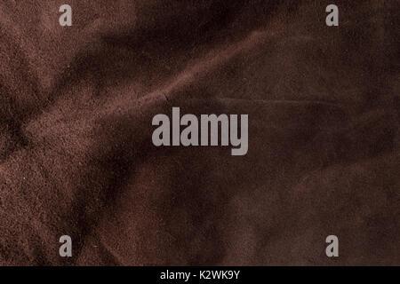 Ledrige Italienische braunem Sämischleder Textur Hintergrund - Stockfoto