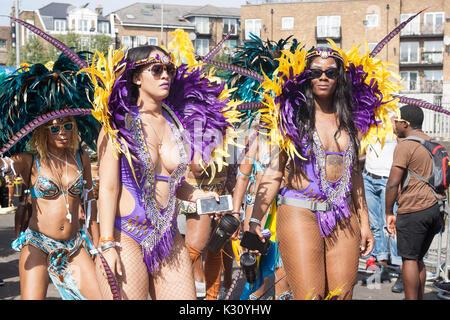 Notting Hill Carnival Westbourne Park London 2017 Nottinghill - Stockfoto