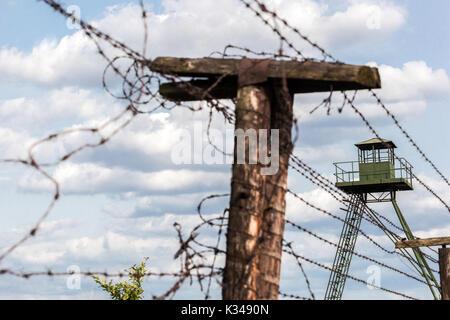 Die Tschechoslowakei Kommunismus, des ehemaligen Eisernen Vorhangs, des Kalten Krieges, Cizov in der Nähe von Znojmo, - Stockfoto