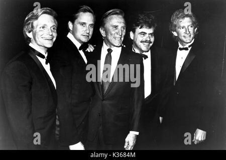 L-R: Eric, Michael Kirk, JOEL UND PETER DOUGLAS - Stockfoto