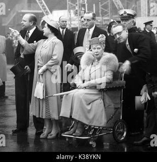 5. Mai 1951: Königin Elisabeth die Königin Mutter, Königin Maria, Prinz Heinrich, Herzog von Gloucester, die während - Stockfoto