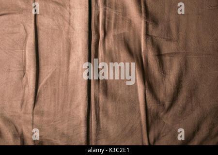 Weiche braune chamois Textur Hintergrund, Textil. - Stockfoto