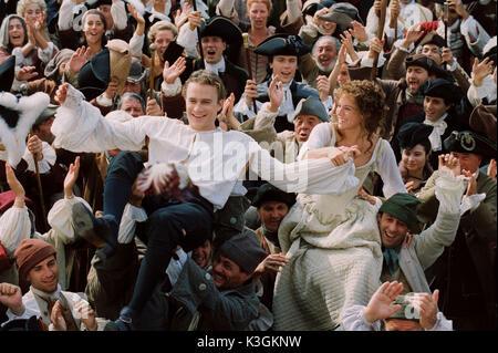 Im Bild: Casanova (Heath Ledger) und Francesca (Sienna Miller) in einer Szene von Casanova, Regie, Lasse Hallströ - Stockfoto