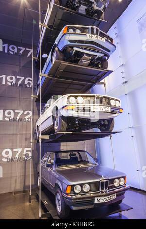Deutschland, Bayern, München, BMW Museum, anzeigen historische BMW Fahrzeuge - Stockfoto