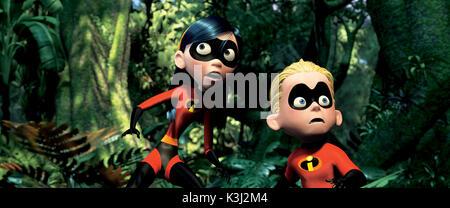"""Im Bild: Violett und Strich in einer Szene aus """"Die Unglaublichen - The Incredibles. Die Erlaubnis wird in Zeitschriften - Stockfoto"""