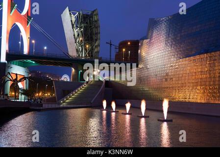 Guggenheim Museum, Bilbao, Vizcaya, Baskenland, Spanien, Europa - Stockfoto