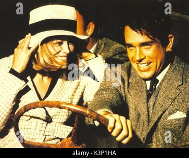 BONNIE UND CLYDE [USA 1967] Faye Dunaway als Bonnie Parker, Warren Beatty als Clyde Barrow Datum: 1967 - Stockfoto