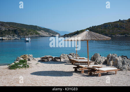 Hotel Nobelos privaten Strand in Agios Nikolaus, auf der Insel Zakynthos in Griechenland - Stockfoto