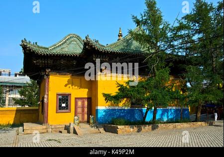 Bibliothek Im Gandan Komplex, Gandantegchinlen Kloster, Ulaanbaatar, Mongolei - Stockfoto