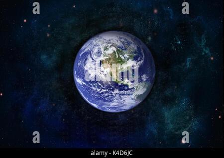 Blue sunrise, Blick auf die Erde aus dem Weltraum